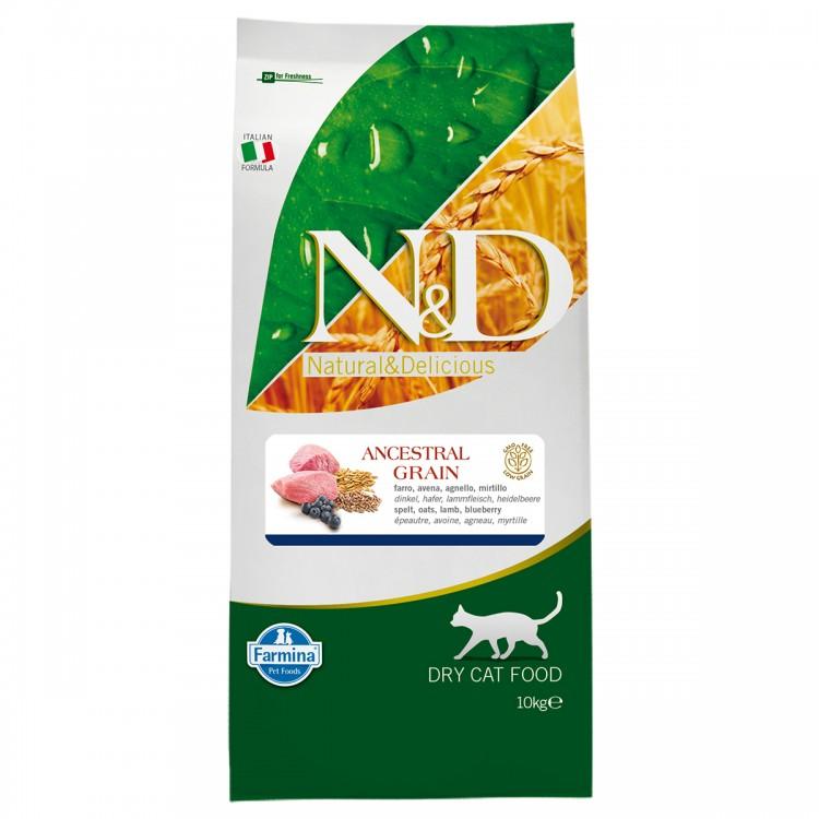 N&D Cat Adult LOW GRAIN Miel si Afine 10 kg