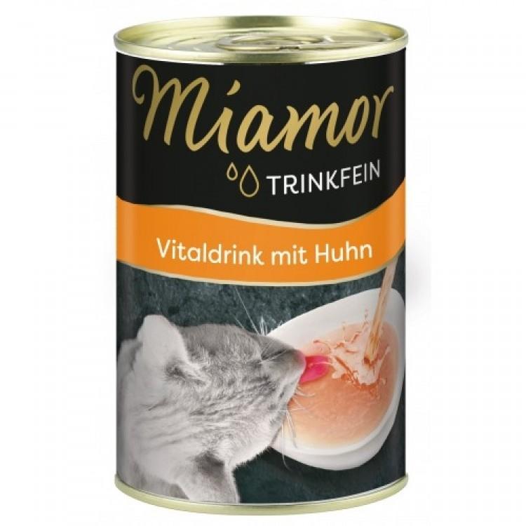 Hrana umed-lichida pisici, Miamor Vital Drink cu pui, 135 ml