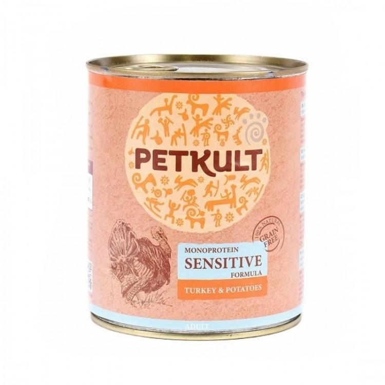 Petkult Sensitive Curcan si Cartof, 800 g