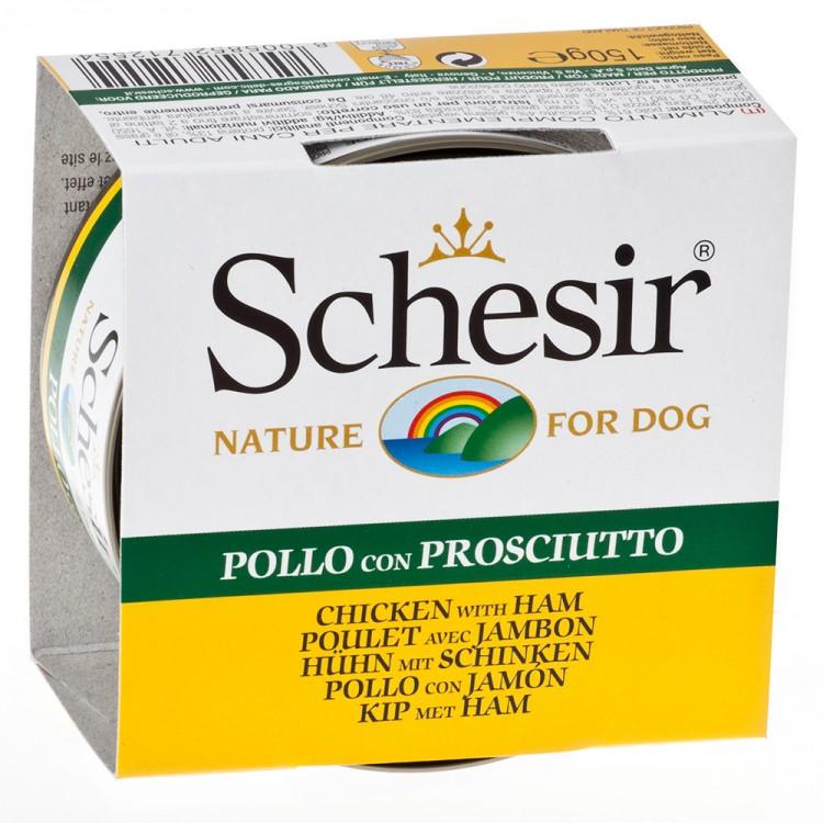 Schesir Dog Pui/ Jambon, 150 g