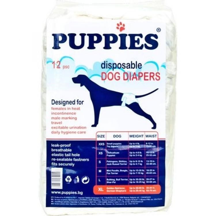 Scutece pentru caini, Puppies XL, 12 buc