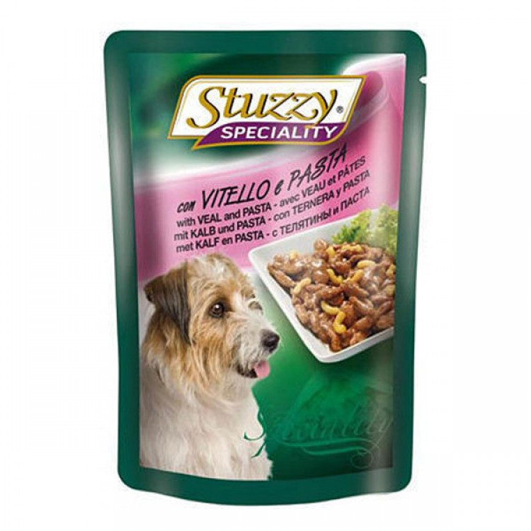 Stuzzy Speciality Dog Vitel si Paste, 100 g