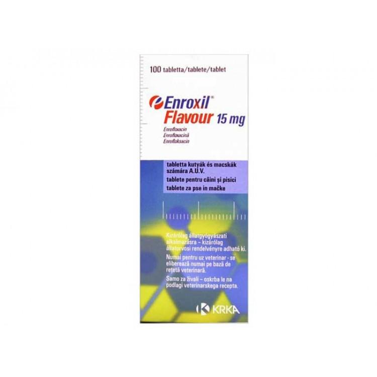 Enroxil Flavour 15 mg - 10 comprimate - antibiotic destinat cainilor si pisicilor