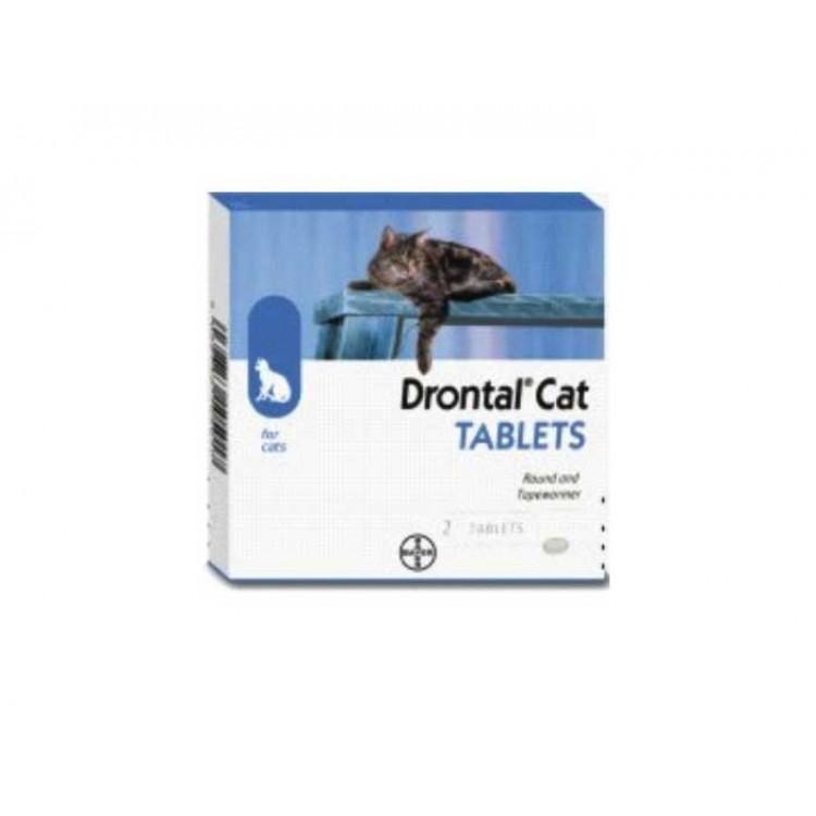 Drontal Cat 2 tablete - este un antiparazitar intern pentru pisici