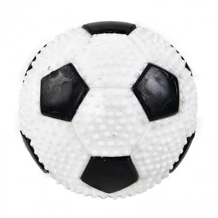 Jucarie minge din cauciuc termoplastic, Mon Petit Ami, 9 cm, Alb/ Negru