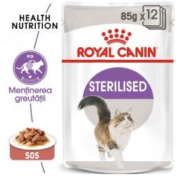 Royal Canin Sterilised Adult hrana umeda pisica sterilizata (in sos), 12 x 85 g
