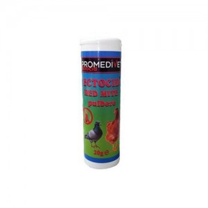 Ectocid Red Mite pulbere, 20 g