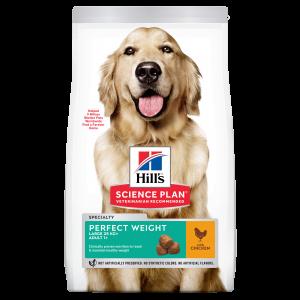 Hill's SP Adult Perfect Weight Large Breed hrană pentru câini cu pui, 12 kg