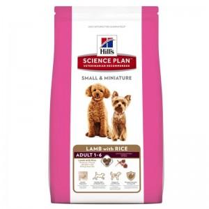 Hill's SP Adult Small and Miniature hrana pentru caini cu miel si orez 1.5 kg