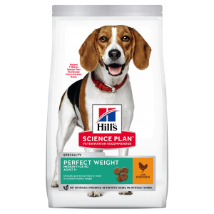 Hill's SP Adult Perfect Weight Adult Medium Breed hrană pentru câini cu pui