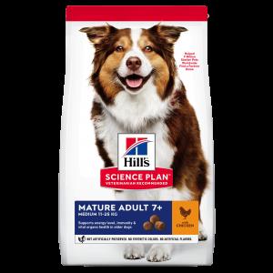 Hill's SP Mature Adult 7 Plus Medium Breed hrana pentru caini cu pui