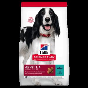 Hill's SP Adult Medium Breed hrana pentru caini cu ton si orez