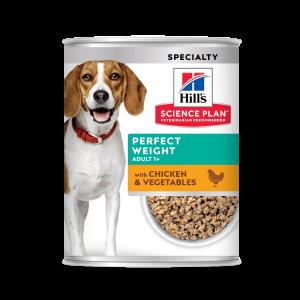Hill's SP Canine Perfect Weight hrană pentru câini cu pui și legume, 363 g (conservă)