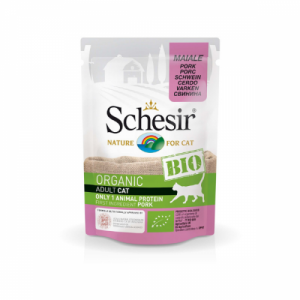 Schesir Bio For Cat, Porc, 85 g