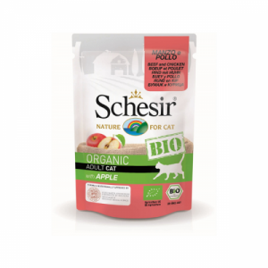 Schesir Bio For Cat, Vita, Pui si Mar, 85 g