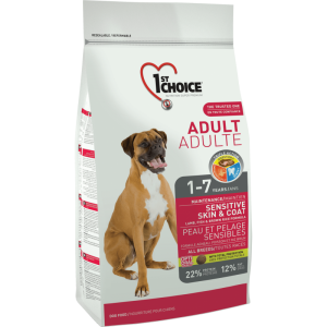 1St Choice Dog Adult All Breeds Sensitive Skin & Coat, 15 Kg