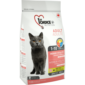 1St Choice Cat Adult Indoor Vitality, 2.72 Kg