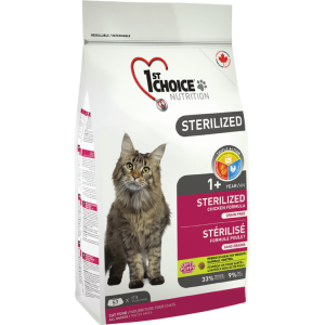 1St Choice Cat Adult Sterilized, 10 Kg