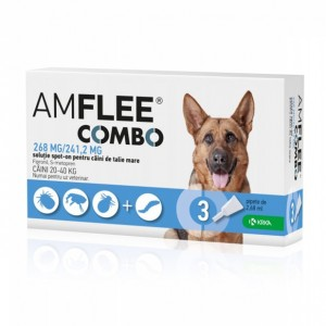 AMFLEE COMBO DOG 268 mg, L (20-40 kg) x 3 pipete