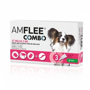 AMFLEE COMBO DOG 67mg, S (2-10 kg) x 3 pipete