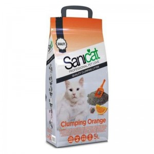 Nisip Sanicat Clumping Orange 5 L