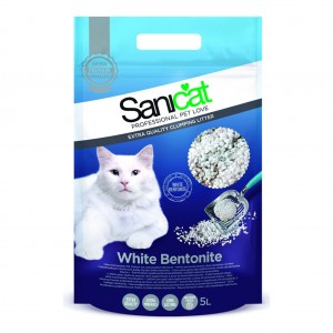 Nisip Sanicat Clumping White Bentonite 5 L