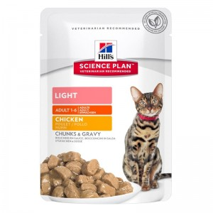 Hill's SP Adult Light hrana pentru pisici cu pui 85 g (plic)