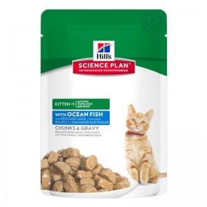 Hill's SP Kitten hrana pentru pisici cu peste oceanic 85 g (plic)