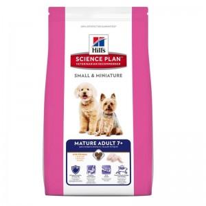 Hill's SP Mature Adult 7 Plus Small and Miniature hrana pentru caini cu pui 1.5 kg