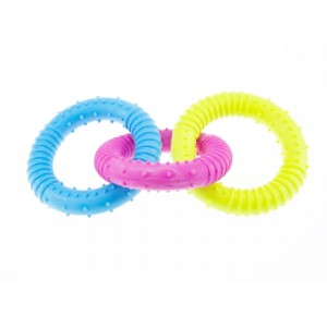 Jucarie caini inele colorate, Enjoy, 16 cm
