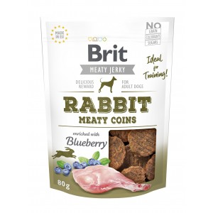 Brit Dog Jerky Rabbit Meaty Coins, 80 g