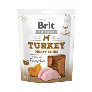 Brit Dog Jerky Turkey Meaty Coins, 200 g
