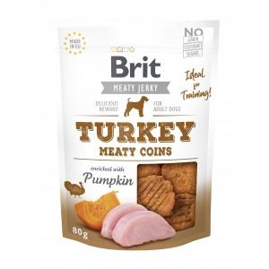 Brit Dog Jerky Turkey Meaty Coins, 80 g