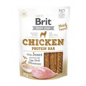 Brit Dog Jerky Chicken Protein Bar, 80 g