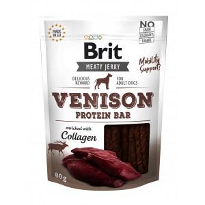 Brit Dog Jerky Venison Protein Bar, 80 g