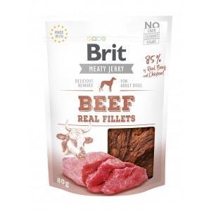 Brit Dog Jerky Beef Fillets, 80 g