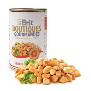Brit Boutiques Gourmandes bucatele de Pui in sos 400 gr