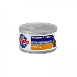 Hill's SP Mature Adult 7 Plus hrana pentru pisici cu pui 82 g (conserva)