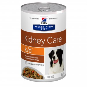 Hill's PD K/D hrana pentru caini cu pui si legume, 354 g