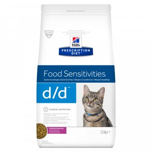 Hill's PD Feline D/D Duck and Pea, 1.5 kg