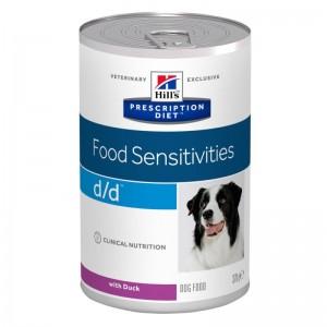 Hill's PD d/d Food Sensitivities hrana pentru caini cu rata 370 g