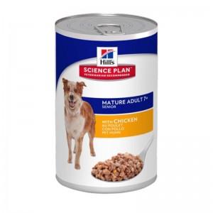 Hill's SP Mature Adult 7 Plus hrana pentru caini cu pui 370 g