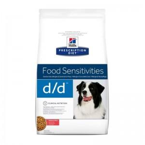 Hill's PD d/d Food Sensitivities hrana pentru caini cu somon si orez 12 kg