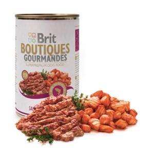 Brit Boutiques Gourmandes bucatele de Somon 400 gr pate
