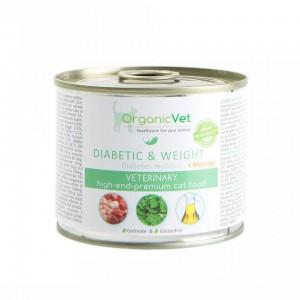 OrganicVet Feline Veterinary, Diabet zaharat/ probleme de greutate, 200 g