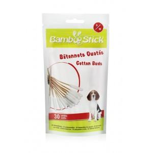 Betisoare igienice pentru curatarea urechiilor, Bamboostick, S/M 30 buc