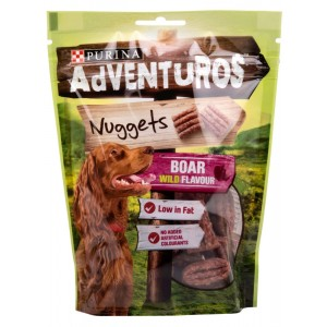 Recompense caini, Purina Adventuros Nuggets, Boar Wild, 6 x 90 g