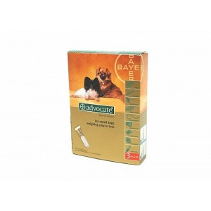 Advocate 40 Caine (0 - 4 kg), 3 pipete
