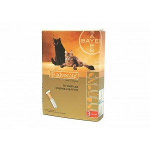Advocate 40 Pisica (0 - 4 kg), 3 pipete