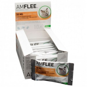 AMFLEE CAT 50 mg spot-on, 10 pipete